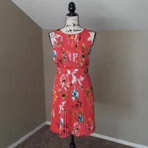 Liz Claiborne La Vie En Rose Pleated Dress